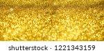 gold glitter banner. shiny... | Shutterstock . vector #1221343159