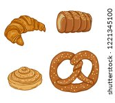 vector cartoon set of fresh... | Shutterstock .eps vector #1221345100