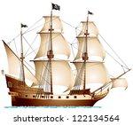 Pirate Ship  Sailing Ship Unde...