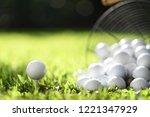 Golf Ball On Tee And Golf Balls ...
