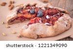 appetizing cake  homemade cakes ... | Shutterstock . vector #1221349090