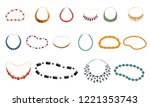 Women Necklace Beads Icon Set....
