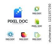 set of digital document logo... | Shutterstock .eps vector #1221357250