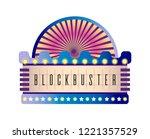 movie and cinema retro... | Shutterstock .eps vector #1221357529