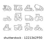 construction vehicles. heavy... | Shutterstock .eps vector #1221362950