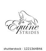 equine strides logo | Shutterstock .eps vector #1221364846