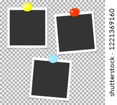 collection of photo frames with ... | Shutterstock .eps vector #1221369160