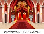 door of the castle and windows  ... | Shutterstock .eps vector #1221370960