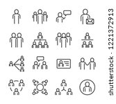 people and social icon set.... | Shutterstock .eps vector #1221372913