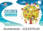 vector illustration of children ... | Shutterstock .eps vector #1221374110