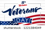 november 11 veterans day usa... | Shutterstock .eps vector #1221384049