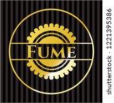 fume golden emblem   Shutterstock .eps vector #1221395386