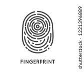 fingerprint authentication... | Shutterstock .eps vector #1221396889