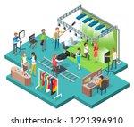 film studio filmmaking process... | Shutterstock .eps vector #1221396910