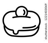 jewish sweet bakery icon.... | Shutterstock .eps vector #1221403069