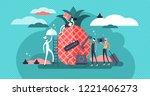 hospitality flat vector... | Shutterstock .eps vector #1221406273