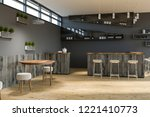 modern bar interior with gray... | Shutterstock . vector #1221410773