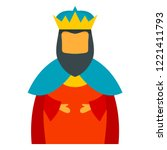 christian epiphany king icon.... | Shutterstock .eps vector #1221411793
