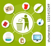 type of recycle object concept... | Shutterstock .eps vector #1221415249