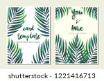 card templates leaves...   Shutterstock .eps vector #1221416713