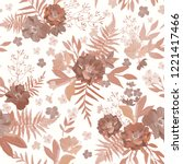 flowers seamless pattern hand... | Shutterstock .eps vector #1221417466
