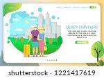 older travelers landing page... | Shutterstock .eps vector #1221417619