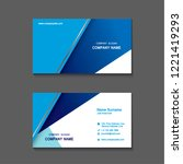 simple business name card set... | Shutterstock .eps vector #1221419293