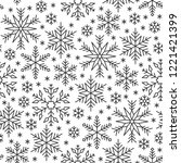 snowflake line seamless pattern.... | Shutterstock .eps vector #1221421399