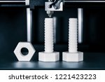 manufacture of screws and nuts...   Shutterstock . vector #1221423223