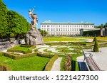 mirabell palace or schloss...   Shutterstock . vector #1221427300
