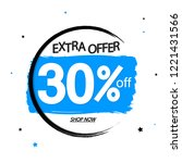 sale 30  off tag   discount... | Shutterstock .eps vector #1221431566