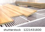 warm floor. infrared floor... | Shutterstock . vector #1221431830