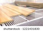 warm floor. infrared floor... | Shutterstock . vector #1221431830
