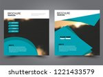 square flyer template. simple...   Shutterstock .eps vector #1221433579