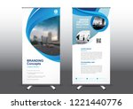 rollup template vector... | Shutterstock .eps vector #1221440776