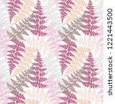 fern frond herbs  tropical... | Shutterstock .eps vector #1221443500