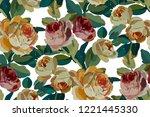 vintage floral seamless... | Shutterstock .eps vector #1221445330