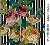 vintage floral seamless... | Shutterstock .eps vector #1221445333
