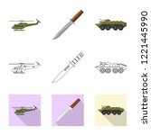 vector design of weapon and gun ... | Shutterstock .eps vector #1221445990