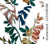 vintage floral seamless... | Shutterstock .eps vector #1221448186