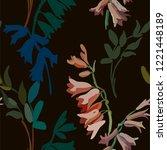 vintage floral seamless... | Shutterstock .eps vector #1221448189