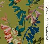 vintage floral seamless... | Shutterstock .eps vector #1221448210