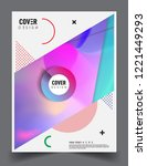 modern abstract covers template.... | Shutterstock .eps vector #1221449293
