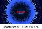 big data stream visualization.... | Shutterstock .eps vector #1221449476