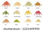 set of hand drawn colored piles ... | Shutterstock .eps vector #1221449590