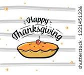 thanksgiving day. logo  text...   Shutterstock .eps vector #1221451336