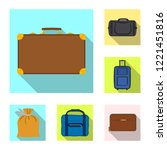 vector illustration of suitcase ... | Shutterstock .eps vector #1221451816