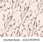 seamless pattern of dried... | Shutterstock .eps vector #1221453943