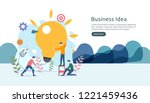 teamwork business brainstorming ... | Shutterstock .eps vector #1221459436