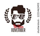 no shave november design ... | Shutterstock .eps vector #1221462493